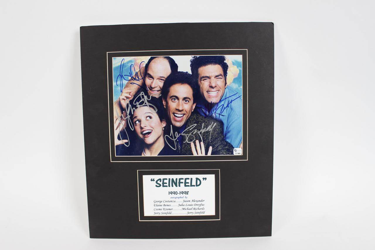 1990-1998 Seinfeld Signed 8x10 Cast Photo -Matted (GAI COA)