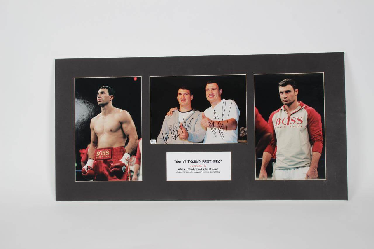 """The Llitschko  Brothers"" Wladimir & Vitali Signed Display - COA JSA & GAI"