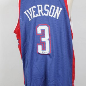 Iverson 76ers Signed NBA All Stars Nike Jersey