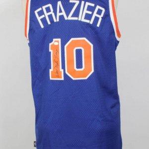"""Walt """"Clyde"""" Frazier -Knicks- Signed Hardwood Classics Reebok Jersey - COA"""