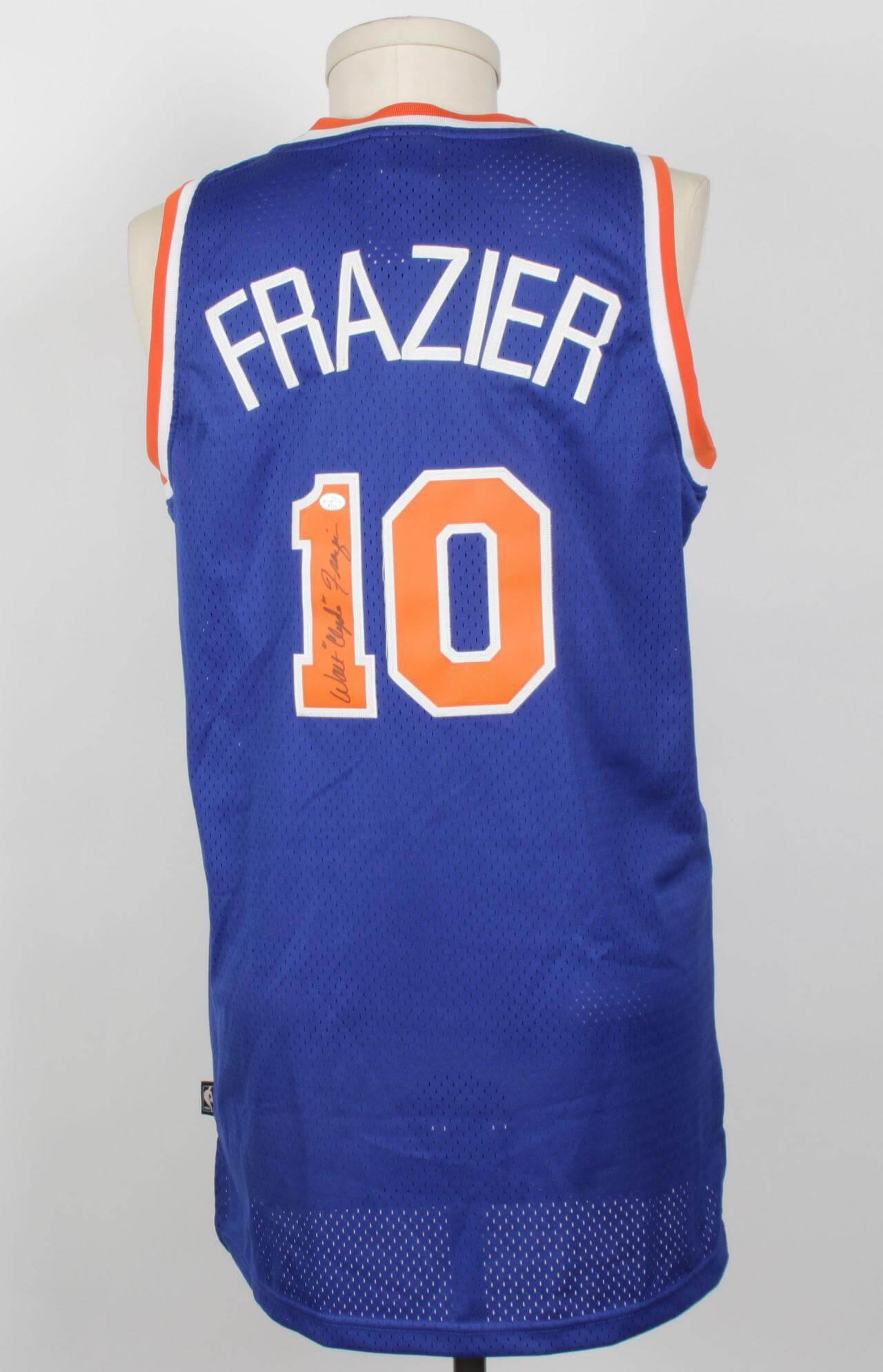 sports shoes df9e0 2d945 Walt Frazier Signed Jersey Knicks - COA