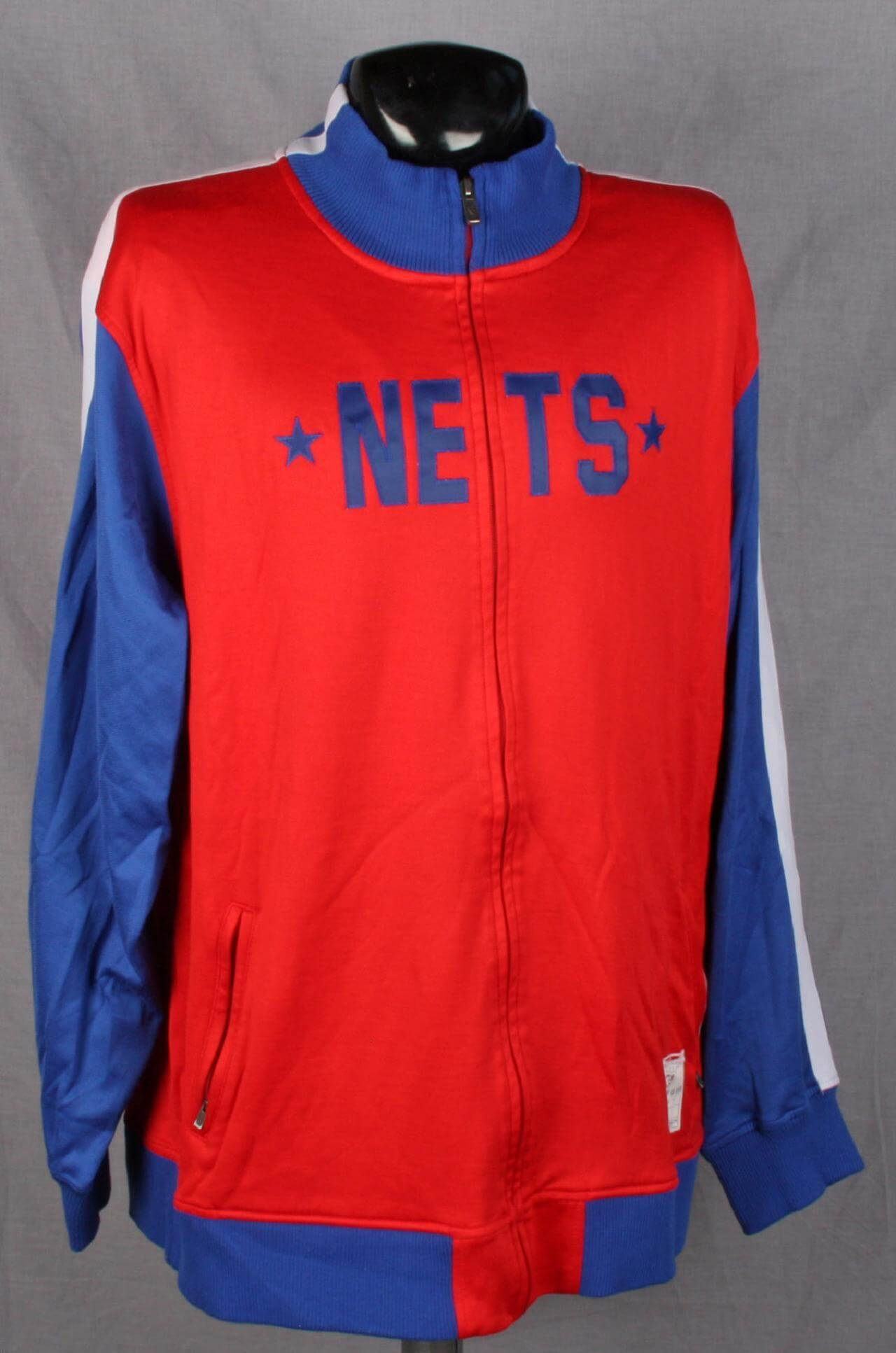 2005-2006 New Jersey Nets - Richard Jefferson Game Worn/Used Red Retro Hardwood Classics Nights Throwback Warmup Jacket