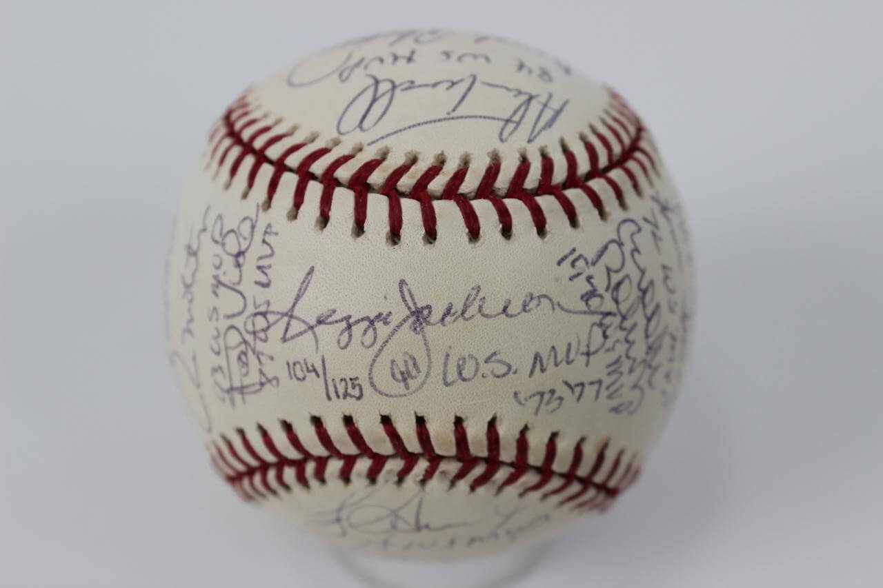 AL World Series MVPs Multi-Signed OWS Baseball 25 Sigs. - (JSA Full LOA - LE 104/125)