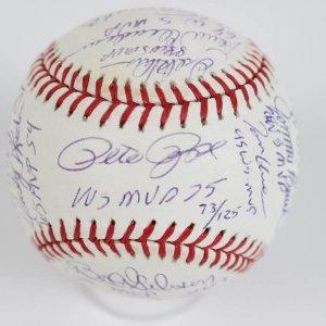 National League World Series MVPs Multi-Signed OWS Baseball 16 Sigs. Incl. Rose, Hershiser, Glavine, Schmidt, Bench et al. (Steiner COA - LE 73/125)