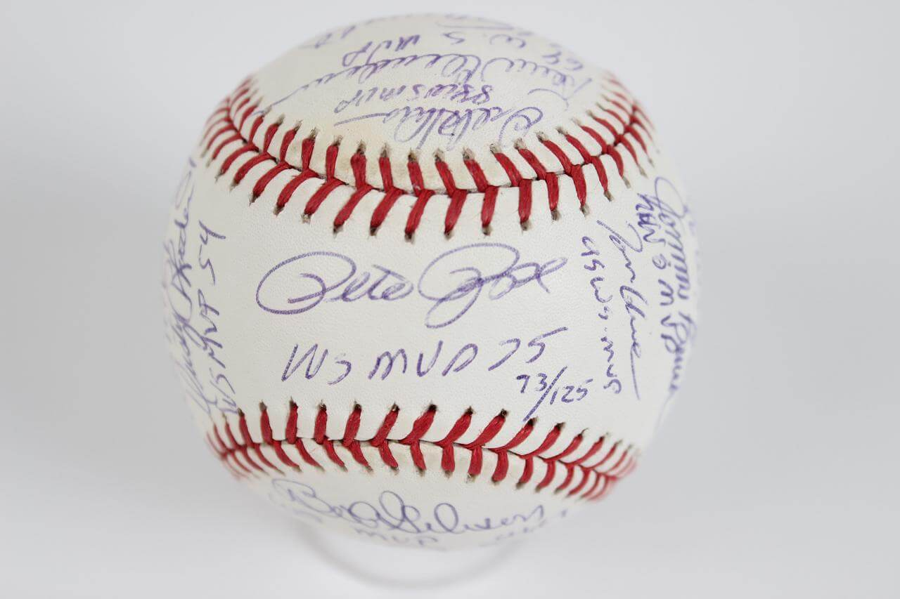 National League World Series MVPs Multi-Signed OWS Baseball 16 Sigs. Incl. Rose, Hershiser, Glavine, Schmidt, Bench et al. (Steiner COA - LE 73/125)