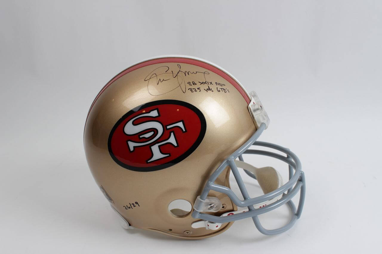 San Francisco 49ers - Steve Young Signed Inscribed Full Size Authentic Helmet - SB XXIX MVP 325 Yds. 6 TDs (GTSM Young Hologram)