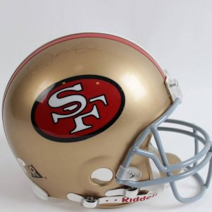 San Francisco 49ers - Joe Montana Signed Autographed Full Size Authentic Helmet (Mounted Memories Hologram)