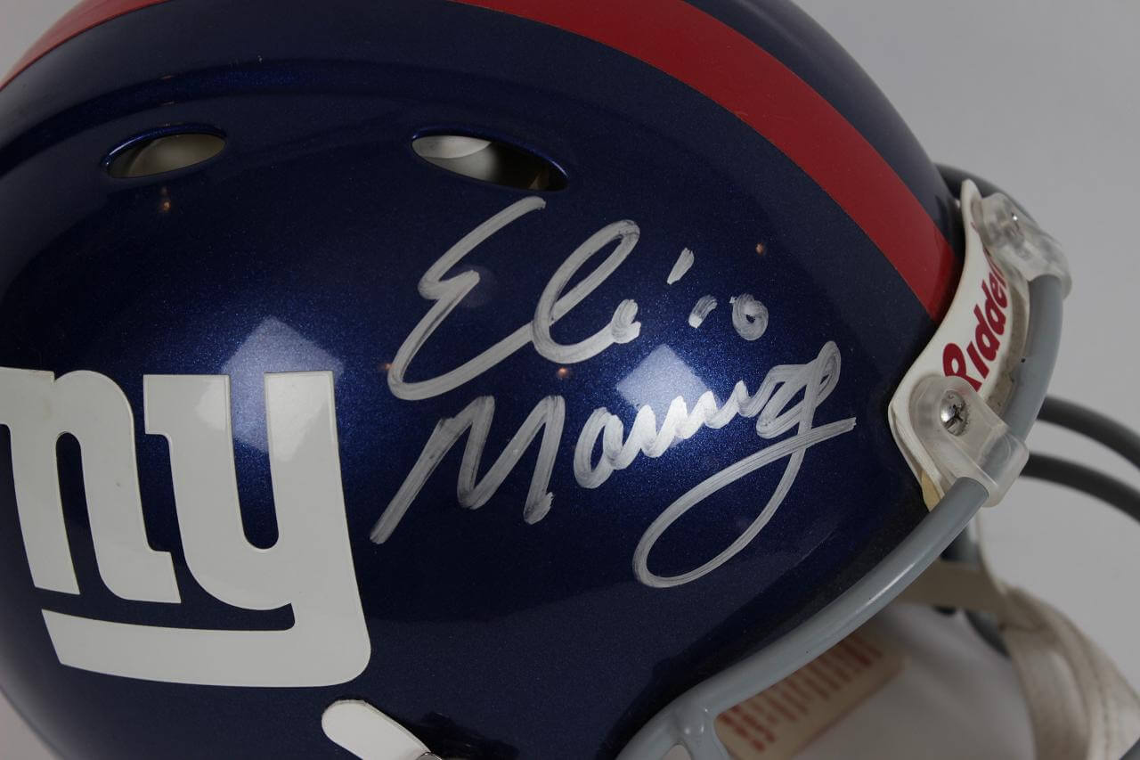 New York Giants - Eli Manning Signed Autographed Full Size Authentic Revolution Helmet