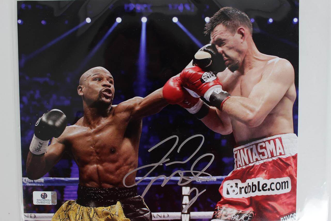 Boxing Champ - Floyd Mayweather Signed 8x10 Color Photo