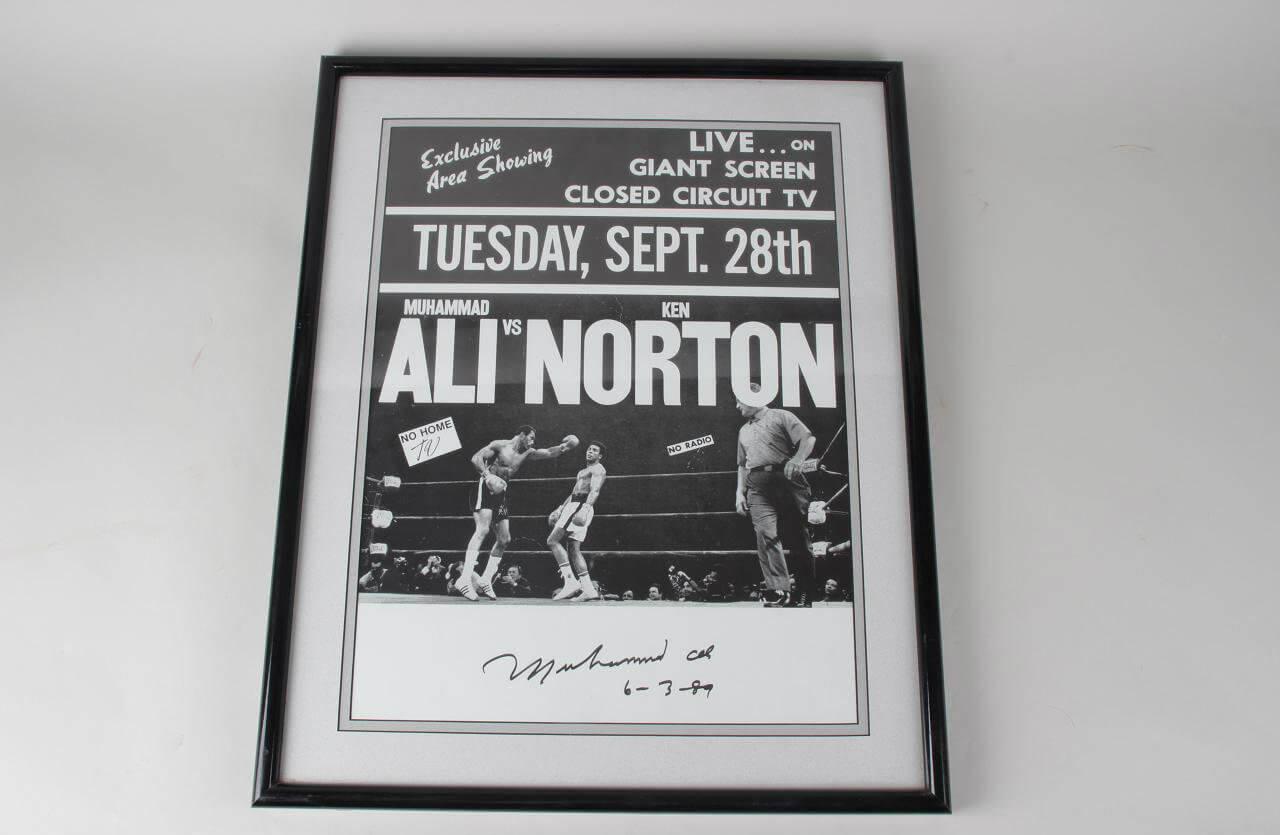 Muhammad Ali Signed Poster - COA JSA