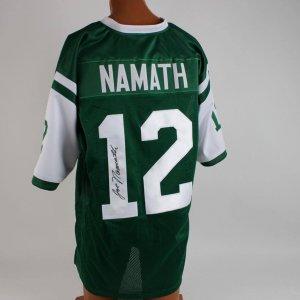Joe Namath Signed Jets Green Jersey (PSA )