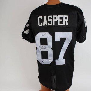 Oakland Raiders  Dave Casper Signed & Inscribed   ( Gost HOF 02 ) Black Jersey