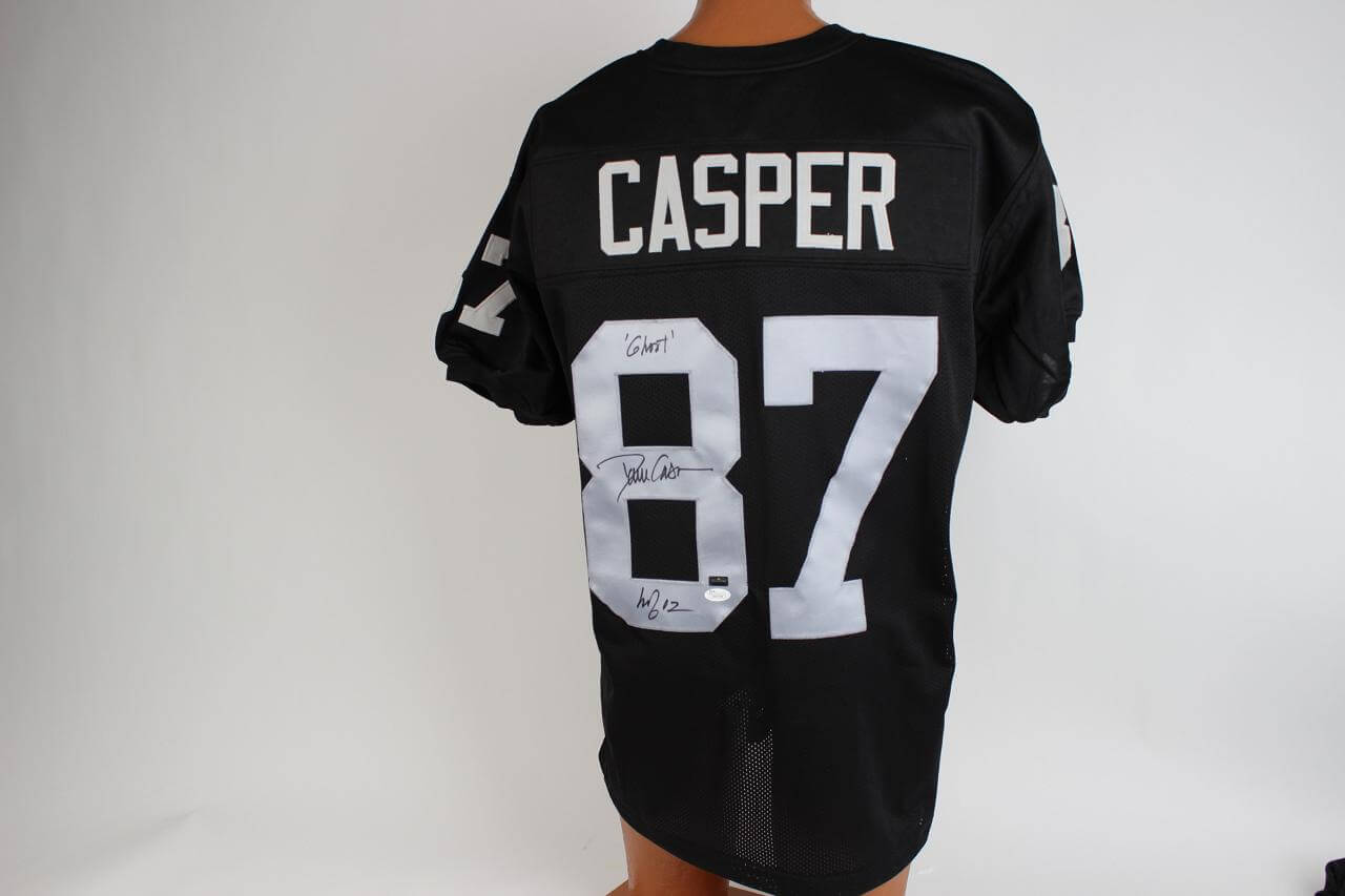 Oakland Raiders - Dave Casper Signed & Inscribed Black Jersey - COA JSA