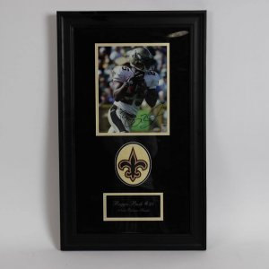 Reggie Bush New Orleans Saints  Signed 8x10 Framed Photo Display  (Mounted Memories)