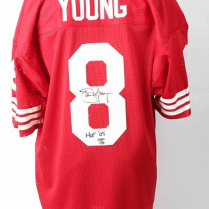 49ers - Steve Young Signed & Inscribed Authentic Home Jersey - COA Tri-Star Hologram
