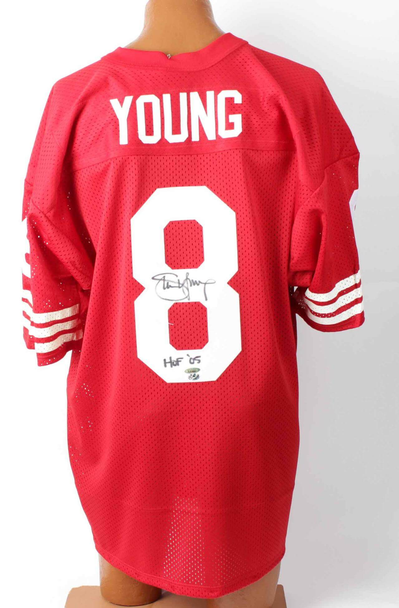 Steve Young Signed & Inscribed HOF '05 Authentic Home  49ers Jersey ( Tri-Star Hologram)