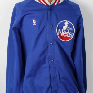 1986 New Jersey Nets - Otis Birdsong Game-Worn Used Warm-Up Jacket (Nets Sand-Knit Exclusive Tagging)