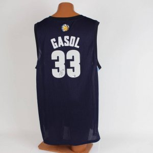 Gasol Memphis  Basketball Signed  Blue Jersey