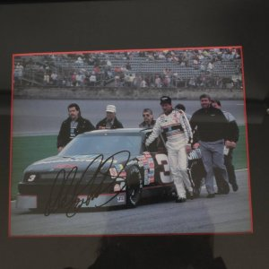 Dale Earnhardt Sr. Signed  8x10 Color Photo Display
