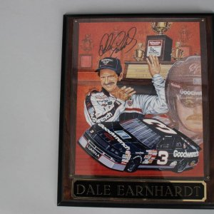 NASCAR Legend - Dale Earnhardt, Sr. Signed  8x10 Color Photo Display