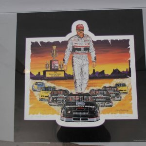 NASCAR Legend - Dale Earnhardt, Sr. Lithograph LE Signed by Sam Bass- COA