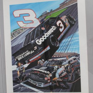 NASCAR Legend - Dale Earnhardt, Sr. Signed 23x30 Lithograph - JSA