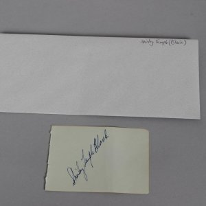 Actress - Shirley Temple Black Signed Parchment (Moseley Collection - Incl. Notarized Letter)