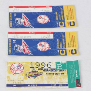 1998 ALCS Ticket Stub Lot