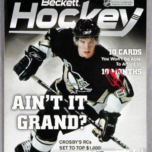 Sidney Crosby Signed 2005 Beckett Hockey Magazine