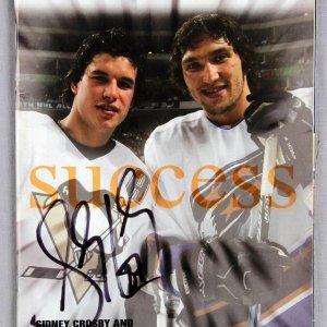 Sidney Crosby Signed Icetime Program