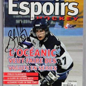 "Sidney Crosby Signed 2005 ""ESPOIRS DU HOCKEY"" Magazine"
