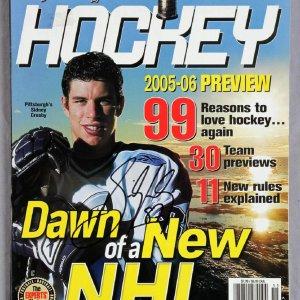 Sidney Crosby Signed Sporting News Hockey 2005-06 Preview Magazine