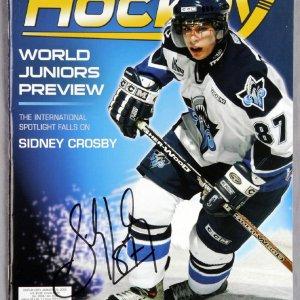Sidney Crosby Signed Beckett Hockey Price Guide Magazine