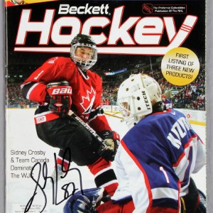 Sidney Crosby signed 2005 Becket Hockey Price Guide