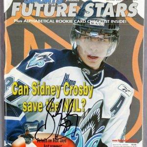 "Sidney Crosby signed 2005 Canadien Sports Collectors ""Future Stars"" Magazine"