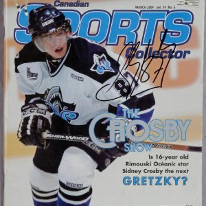 """Sidney Crosby Signed 2004 """"Canadien Sports Collector"""" Magazine"""