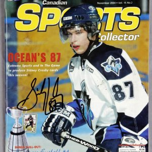 """Sidney Crosby Signed 2004 """"Canadien Sports Collector"""" Magazine - JSA"""