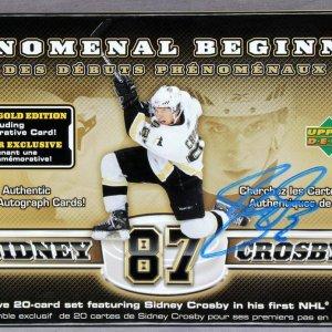 Pittsburgh Penguins - Sidney Crosby Signed 2006 PHENOMENAL BEGINNING Upper Deck Box (Empty)