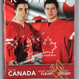 Sidney Crosby and Marc Andre Fleury Dual Signed 2010 ICETIME Program