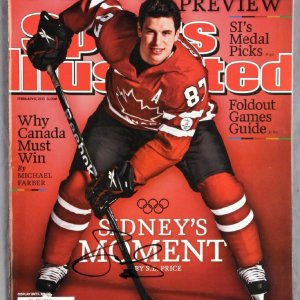 Sidney Crosby - Signed 2010 Sports Illustrated Olympic Preview Magazine