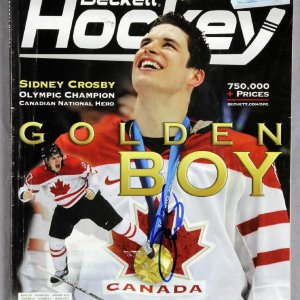Sidney Crosby Signed 2010 Becket Hockey Magazine Price Guide