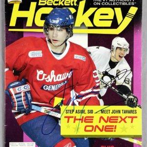 Sidney Crosby and Johnny Tavares Dual Signed 2007 Beckett Hockey Magazine