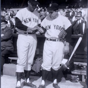 1959 All-Stars - New York Yankees - Elston Howard & Yogi Berra 11x14  Photo (Original Print From Teenie Harris Estate - From the Pittsburgh Courier Archives)