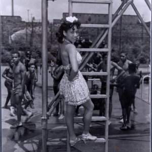 Girl on the Playground 11x14 Photo (Original Print  Teenie Harris Estate Pittsburgh Courier Archives)