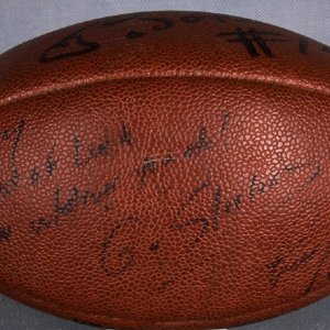 Steelers - Neil O'Donnell and Leon Searcy Signed Football