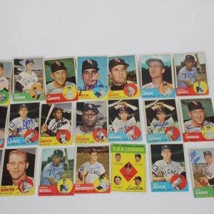 1963 Topps Baseball Card Signed Lot 22 White Sox Incl. Al Lopez etc.