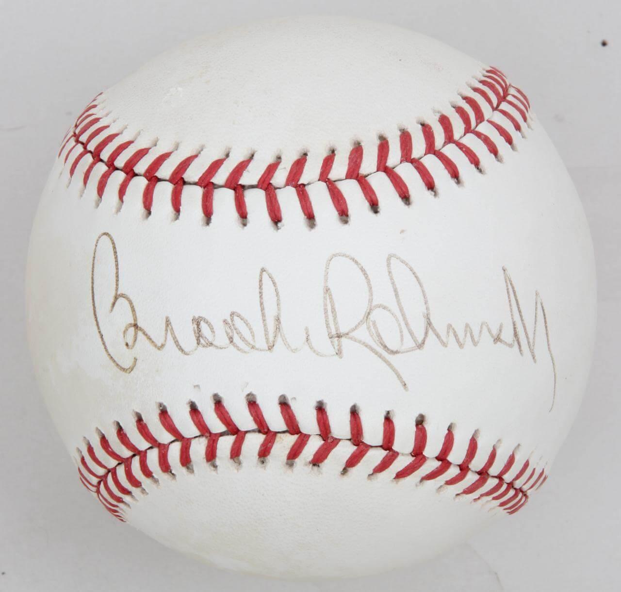 Brooks Robinson Signed Baseball Orioles - COA