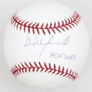 NY Yankees Dave Winfield 'HoF 2001' Signed Baseball
