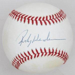 Oakland As Rickey Henderson Signed Baseball