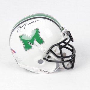 Randy Moss Marshall Signed Mini Helmet